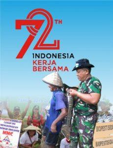 logo 72 tahun indoensia merdeka - kerja bersama, HUT RI ke 72, 17 agustus, Logo Hut RI ke 72, 72 tahun indonesia merdeka